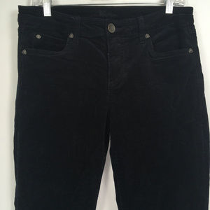 Kut From The Kloth 10 Pants Velvet Black Slim Leg